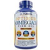 Dr. Tobias Omega 3 Fish Oil Triple Strength, Burpless, Non-GMO, 180 Counts