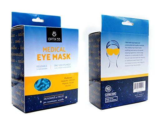 Scorching or Chilly Medical Eye Masks – Reusable Cooling Compress For Puffy, Swollen, Dry or Itchy Eyes, Sinus Headache, and Migraines – Microwave or Freeze – Blue – by Optix 55 deal 50% off 51YCw vFFrL