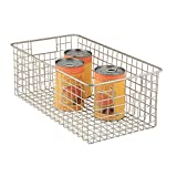 iDesign Classico Metal Wire Storage Organizer Bin with Handles, Container for Bathroom, Bedroom, Pantry, Kitchen, Closet, Large, Large