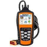 NEXPEAK Universal Car OBDII Scanner Auto OBD2 Car Code Reader NX501 OBDII Diagnostic Car Check Engine Code Scanner with Full OBDII Functions & O2 Sensor Test- Orange
