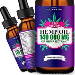 Hemp Oil 140 000mg for Pain Relief, Relaxation Better Sleep, All Natural Pure Extract, Vegan Friendly Supports Anti-Anxiety, Rich in Omega 3, Omega 6, Omega 9 Fatty Acids for Skin Heart Health