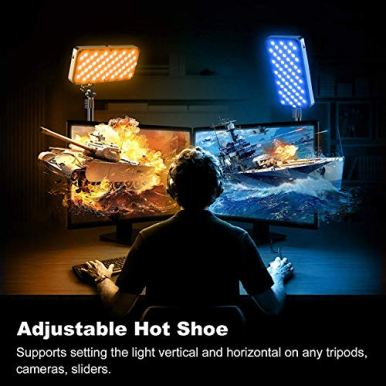 GVM-RGB-LED-Video-Light-Kit-with-C-Clamp-Stand-2-PCS-Full-Color-Video-Lighting-with-App-Control-Photography-Lighting-Kit-with-8-Applicable-Scenes2700K-10000KCRI-97-for-YouTube-Game-Video-Shooting