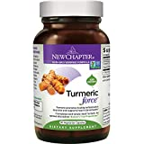 New Chapter Turmeric Curcumin Supplement ONE Daily - Turmeric Force for Inflammation Support + Supercritical Organic Turmeric + NO Black Pepper Needed + Non-GMO Ingredients - 30 Vegetarian Capsule