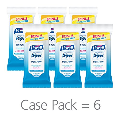 PURELL Hand Sanitizing Wipes - Clean Refreshing Scent - 15 Count Travel  Pack - Travel