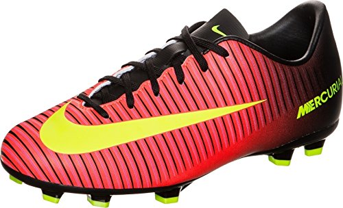 Nike Mercurial Vapor XI FG Football Boots Soccer Shoes red/Black/Yellow, EU Shoe Size:EUR 36.5