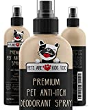 Premium Pet Anti Itch Deodorant Spray & Scent Freshener! ALL NATURAL & Hypoallergenic! Soothes Dogs & Cats Hot Spots, Itchy, Dry, Irritated Skin! Reduces Odor, Allergy Relief! Smells Amazing! (1 Btl)