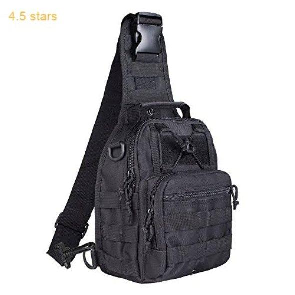 7627a650151a BeGrit Outdoor Tactical Shoulder Backpack Sling Chest Bag Sport Pack  Daypack for Camping Hiking Trekking