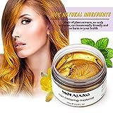 MOFAJANG Natural Hair Wax Color Styling Cream Mud, Natural Hairstyle Dye Pomade, Temporary Hairstyle Cream 4.23 oz, Hairstyle Wax for Men and Women (Gold)