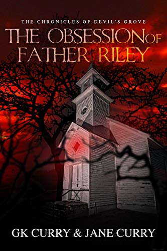 Book cover red church creepy woods horror
