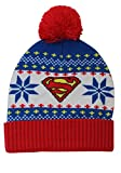 Concept One Accessories Superman Fair Isle Cuff Pom Beanie Standard