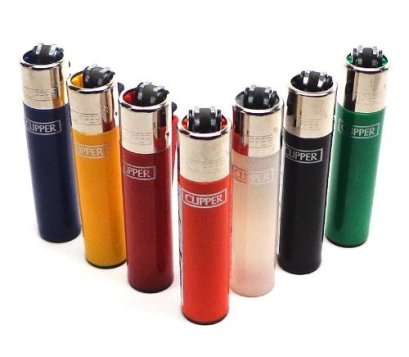 Bundle of 6 Original Clipper Lighters - Official Clipper Lighters with Removable Flint Housing - Assorted Colors