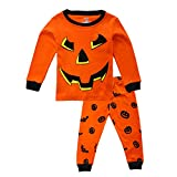 KISBINI Toddler Boy Pajama Pj Set Pjs Jammies for Halloween Xmas Bat Pumpkin 2T