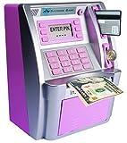ATM Savings Bank, Personal ATM Cash Coin Money Savings Piggy Bank Pink Machine