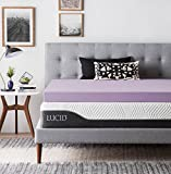 LUCID Ventilated Design 4 Inch Lavender Infused Memory Foam Mattress Topper, Twin XL,