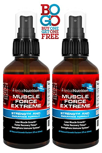 #1 Rated MUSCLE FORCE EXTREME! | Two Bottle Pack | 400mg Proprietary Formula | Our Strongest Strength and Endurance Spray! | Improve Strength and Recovery | Two 2oz Spray Bottles | Free Shipping