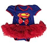 Starkma Supergirl Newborn Infant Baby Girl Set Clothe Cake Dress S01 (S(0-3month)),White,S(0-3month)