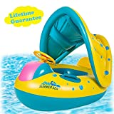 punada Baby Pool Float with Canopy Inflatable Swimming Floats for Kids