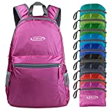 G4Free Ultra Lightweight Packable Backpack Hiking Daypack,Handy Foldable Camping Outdoor Backpack(Pink)