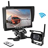 """Accfly Wireless Backup Camera RC 12V-24V Rear View and Monitor Kit Waterproof Parking Assistance System For Car/Truck/Mini Van/Caravan/Trailers/Camper with 7"""" HD LCD Night Vision"""