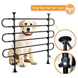 SUKI&SAMI Dog Barrier for SUV Cars Heavy Duty Pet Barrier for Large Dogs, Adjustable Black Car Pet Barrier for Cargo Area, Rubber, Plastic and Metal
