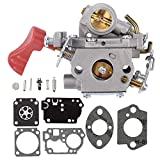 HONEYRAIN PP338PT Carburetor with RB-168 Repair Kit for ZAMA C1M-W44 Poulan PP333 PP133 Pro Gas Trimmer Craftsman 33cc Trimmer Carb Replace 545008042 545189502