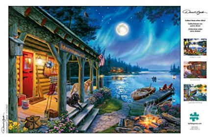 Buffalo-Games-Darrell-Bush-Moonlight-Lodge-1000-Piece-Jigsaw-Puzzle