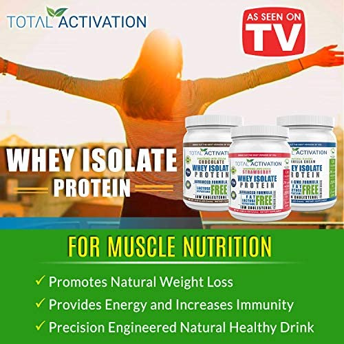 Lactose Free 100% Whey Isolate Low Carb Protein Powder Under 1 Gram Sugar Strawberry Protein Powder for Women Weight Loss & Men Post Workout Recovery Drink Meal Replacement Shakes Keto Protein Powder 5