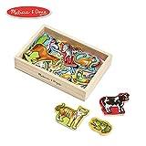 Melissa & Doug Wooden Animal Magnets (Developmental Toys, Wooden Storage Case, 20 Animal-Inspired Magnets)
