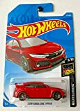 Hot Wheels 2019 Nightburnerz: 2018 Honda Civic Type R [Red] - International Card