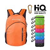 mountop Lightweight Foldable Packable Durable Travel Hiking Backpacks Daypacks 20L (Orange)