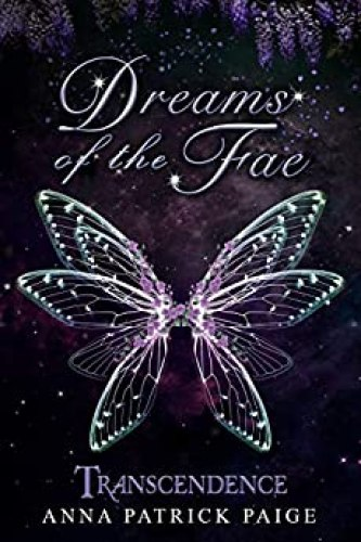 book cover silver butterfly with pink gems Dreams of the Fae by Anna Patrick Paige