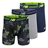 New Balance Men's 6' Boxer Brief Fly Front with Pouch, 3-Pack