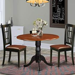 3 PC Kitchen Table set-Dining Table and 2 Wood Kitchen Chairs