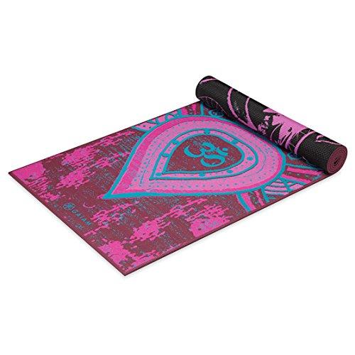 Gaiam Premium Print Reversible Yoga Mat, Be Free, 5mm
