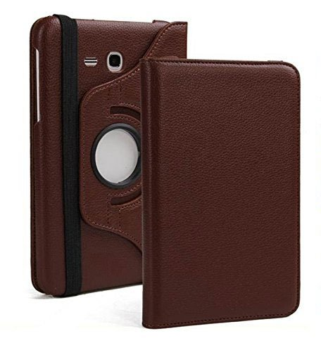 Blackpoll 360 Degree Rotating Leather Case Cover Stand for Samsung Galaxy Tab J Max/Tab A 7 inch T285 T280 (Brown) 119