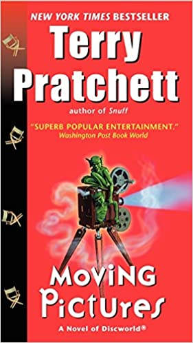 Terry Pratchett book Moving Pictures as a postmodern parody