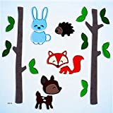 Design Ideas GelGems Animal Themed Gel Window Clings (Forest Friends, Large Bag)