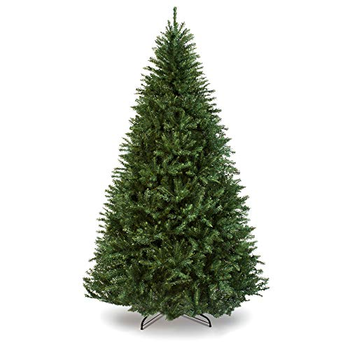 Best Choice Products 7.5ft Premium Hinged Douglas Full Fir Artificial Christmas Tree Festive Holiday Decoration w/ 2254 Branch Tips, Easy Assembly, Foldable Metal Stand - Green