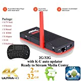 KUKELE Leia 18 Elite Streaming Media Player TV Stick | Octal Core 2GB/32GB TV Box with Wireless Keyboard ...