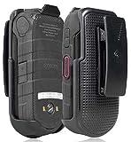 DuraXV LTE Holster, Nakedcellphone Black [Rotating/Ratchet] Belt Clip Holder Case [with Kickstand] for Kyocera DuraXV LTE E4610, DuraXE E4710