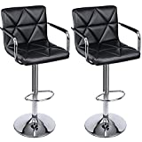 Product review for SONGMICS Adjustable Bar Stools with Arms and Back Leather Swivel Barstool Chairs, Set of 2, ULJB93B