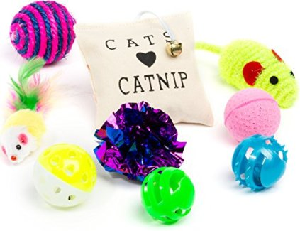 Friends-Forever-Kitten-Toys-Variety-Pack-Cute-Kitty-Toys-for-Cats-20-Pieces-Cat-Toys-Set-Including-Cat-Fishing-Pole-Catnip-Pillow-Lot-More