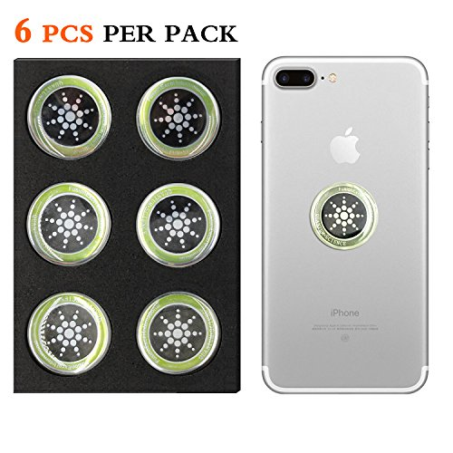 Cell Phone Radiation Protector Shield Sticker-The Best EMR/EMF Neutralizer for Cell Phone,Mobile Phone, iPhone, iPad (Silver 6pcs