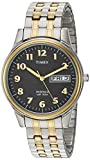 Timex Men's T2N093 Charles Street Two-Tone Extra-Long Stainless Steel Expansion Band Watch