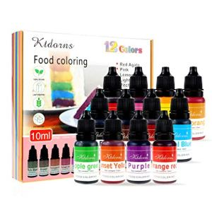 Food Colouring Food dye Flo Concentrated Liquid Food Air Brush – 12 Colours(12x10ml) 51Z2ApWTI2L