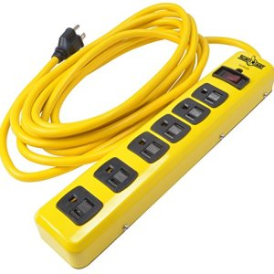 Yellow Jacket 5138 Metal Surge Protector Strip, 15-Foot Cord, 6-Outlet