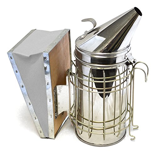CO-Z Bee Hive Smoker Stainless Steel with Heat Shield Protection Beekeeping Equipment