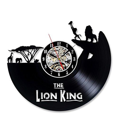 Lion King Vinyl Record Cool Black Wall Clock Gift