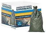 Sandbags for Flooding, Size: 14' x 26', Sand Bag - Flood Water Barrier - Tent Sandbags - Store Bags by Sandbaggy (10 Bags)