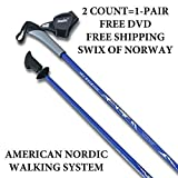 SWIX of Norway Nordic Walking Poles. Life Time Warranty. 32 Lengths. #1 for Fitness, Hiking, Trekking, Physical Therapy. Safer, Lighter, More Durable Than Flimsy Collapsible Poles from China